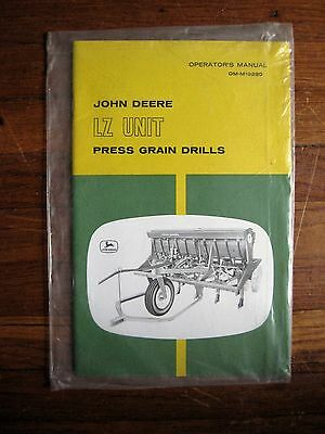 John Deere Lz Unit Press Grain Drills Operators Manual Nos