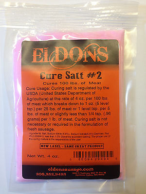 Dry Sausage Pink Curing Salt #2 (Prague Powder #2 ) 4 oz. 949B Cures 100 pounds