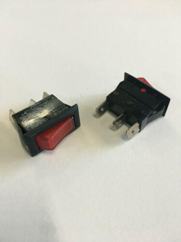 Bulgin C5503AR Lit Rocker Switch 16A 250Vac ON/OFF LOTS OF 100