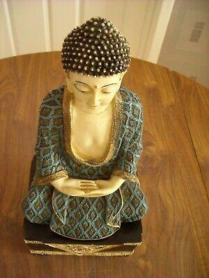 CHINESE~SITTING MEDITATIONING SHAKYAMUNI BUDDHA STATUE~H33cm W15cm D12cm W375 gm