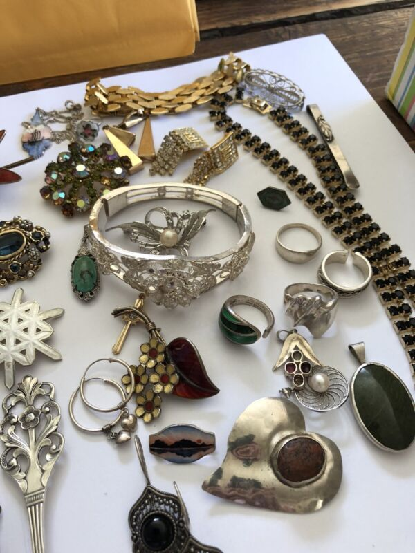 David Andersen Sterling Silver Enamel jewelry Lot  Norway Norwegian Estate
