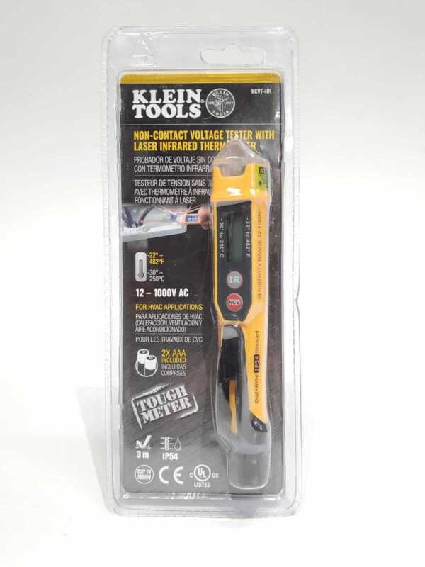 Klein Tools NCVT-4IR Non-Contact Voltage Tester Pen, 12-1000V, with Thermometer