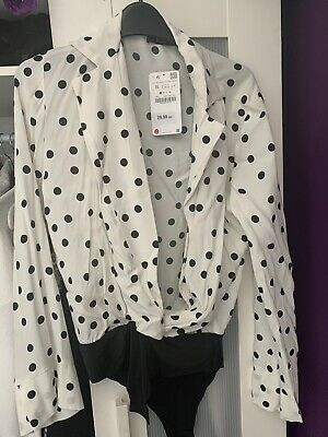 Zara Polka Dot Bodysuit Small