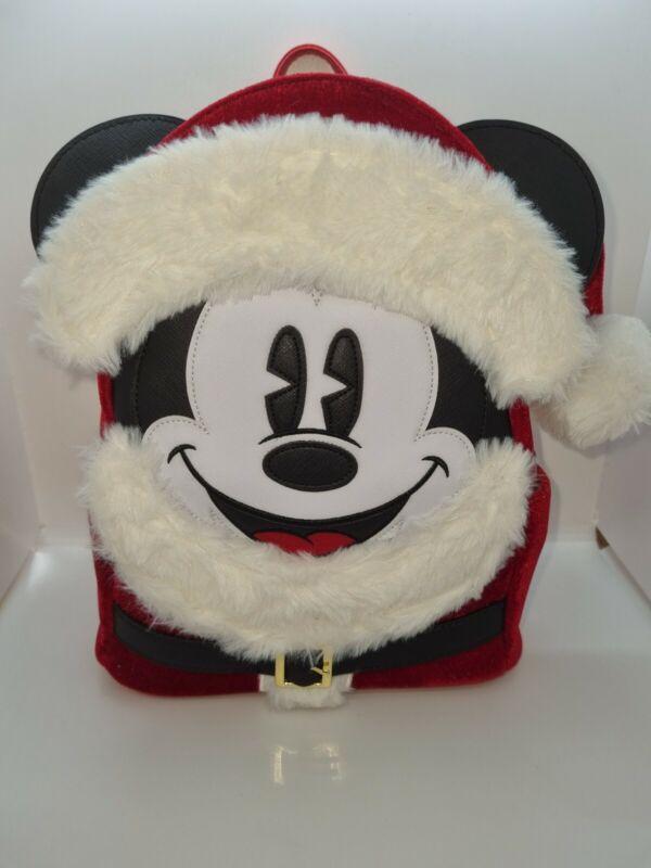 Loungefly Disney Parks Santa Mickey Mouse Mini Backpack