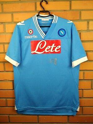 Napoli jersey LARGE 2012 2013 home shirt soccer football Macron image