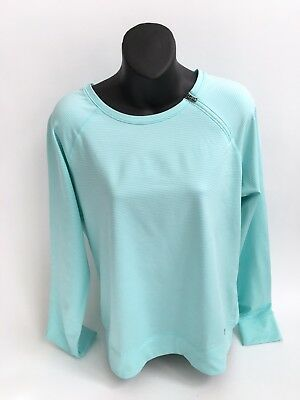 WOMEN'S UNDER ARMOUR COLD GEAR FITTED LONG SLEEVE SHIRT BLUE SZ Large L