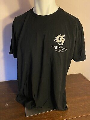Green Day Revolution Radio Tour Shirt Black Size XL Preowned