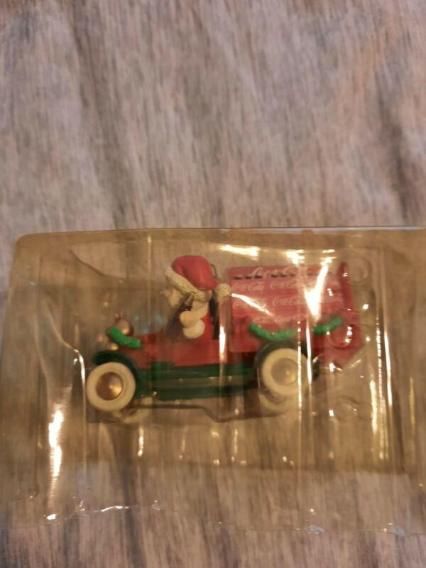 """Enesco Coca-Cola Santa Truck Ornament: """"On The Road With Coke"""""""