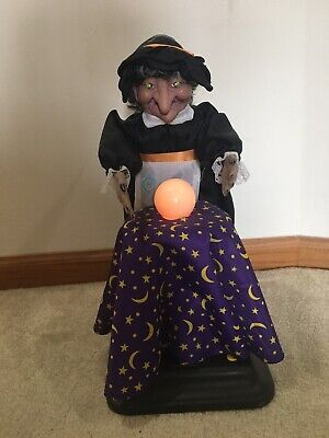 Animated Fortune Teller Witch Gemmy Talks and Lighted Eyes & Ball Tested 1994
