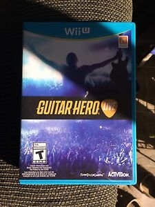Wii U guitar hero  London Ontario image 1