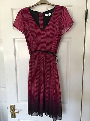 Designer JONATHAN SAUNDERS Dress Size 8 Red Belted Brand New RRP £45