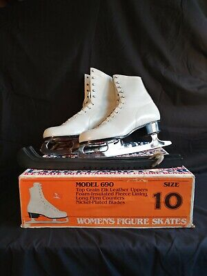 Dick Button    mens  black  ice skates  made in Canada OLYMPIAN VINTAGE