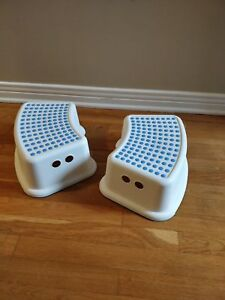 Two Ikea kid's stepping stools