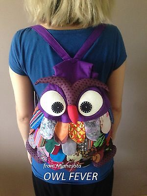 OWL Bag/Handcrafted Owl Backpack/Large - Owl Bags