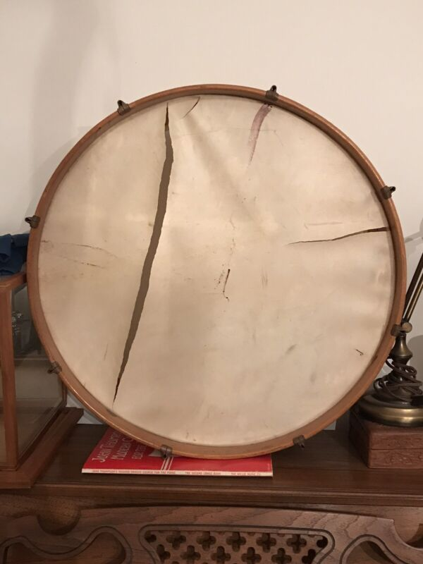 RARE 1930s Gretsch Natural Maple Bass Drum