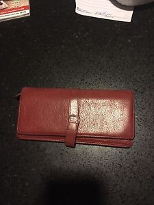 Red Leather OROTON Wallet Theodore Tuggeranong Preview