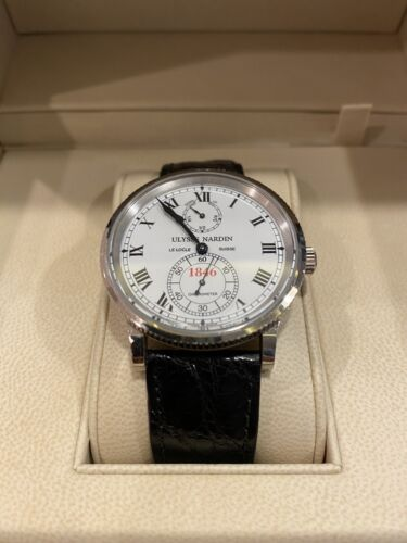 Ulysse Nardin Marine Chronometer 150th Anniversary White Gold Number 174/250 - watch picture 1