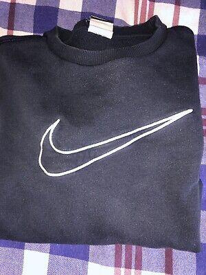 Mens Navy Big Logo Nike Jumper Size M