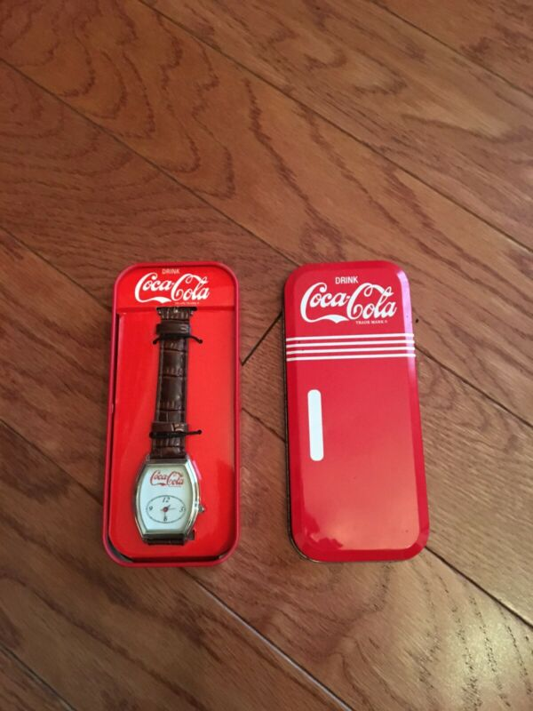 COCA COLA WRISTWATCH - NEW IN TIN - FREE SHIPPING