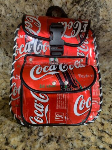 Vintage Collectible Coca-Cola Vietnam Recycled Tin Purse & Phone Pouch