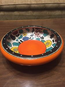 Vintage Coronet Pottery Art Deco Bowl