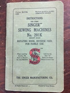 Singer Sewing machine instruction book