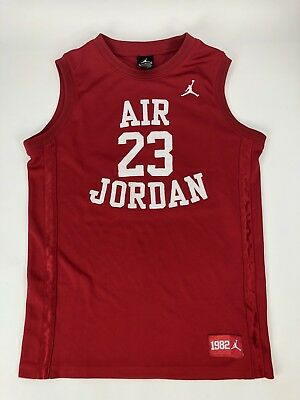 Air Jordan Red Basketball Jersey #23 Youth Boys 12-15Yrs 158-170 Cm