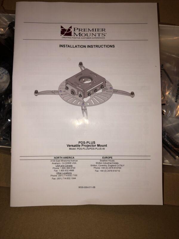 Premier Mounts Pds-plus Low Profile Universal Projector (pdsplus)