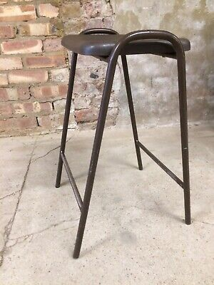 Vintage Retro School Stacking Lab Cafe Kitchen Bar Stool ( 1 Available )