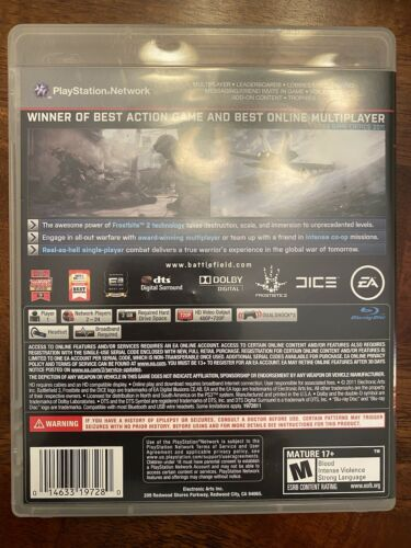 Battlefield 3 For PS3 - Tested Works - $4.50