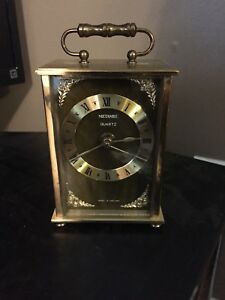 Vintage Metamec Quartz Carriage Mantle Clock