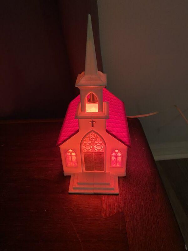 Vintage Glolite Illuminated Church Hard Plastic Light
