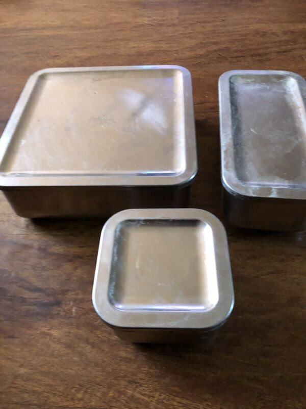Revere Ware Stainless Steel 6 Piece Refrigerator Dish Container Lids