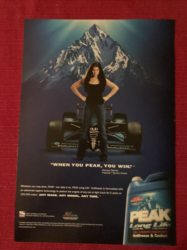 INDY Danica Patrick for Peak Antifreeze 2008 Ad/Poster Promo Art Ad
