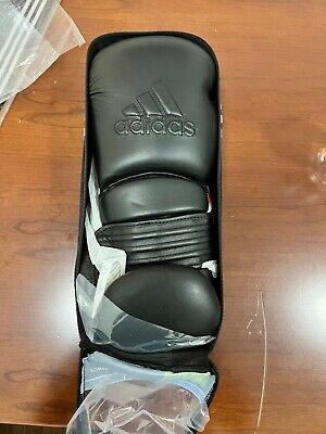 adidas Power 300 Boxing Gloves BLACK 16OZ 100% REAL LEATHER