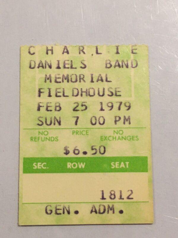 Charlie Daniels 1979 Concert Ticket Stub Pittsburgh