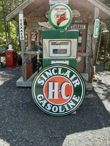 CLASSIC 37 INCH SINCLAIR H C GASOLINE SIGN