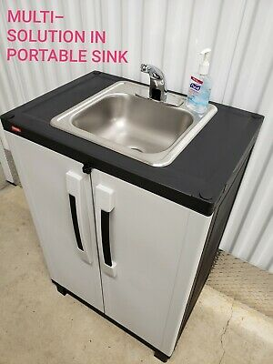 Portable Sink Nsf Self Contained Hot Cold Water With Automatic Sensor Deluxe