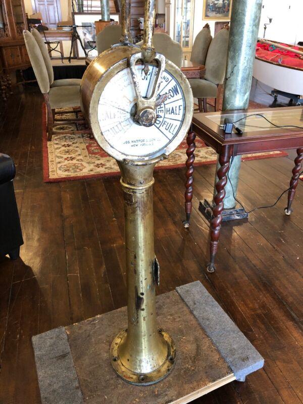 Antique Ships Engine Room Telegraph Jos. Harper & Sons New York NY
