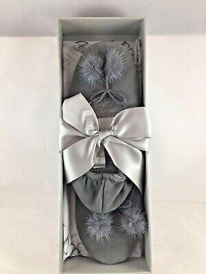Arlotta Cashmere Drawstring Pom Pom Ballet Slippers - Multiple sizes - 2 Colors
