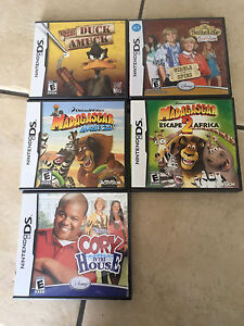 Ds Games comes with Case and Books $5 each
