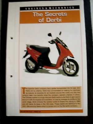 engine & mechanics THE SECRETS OF DERBI collector file fact sheet.