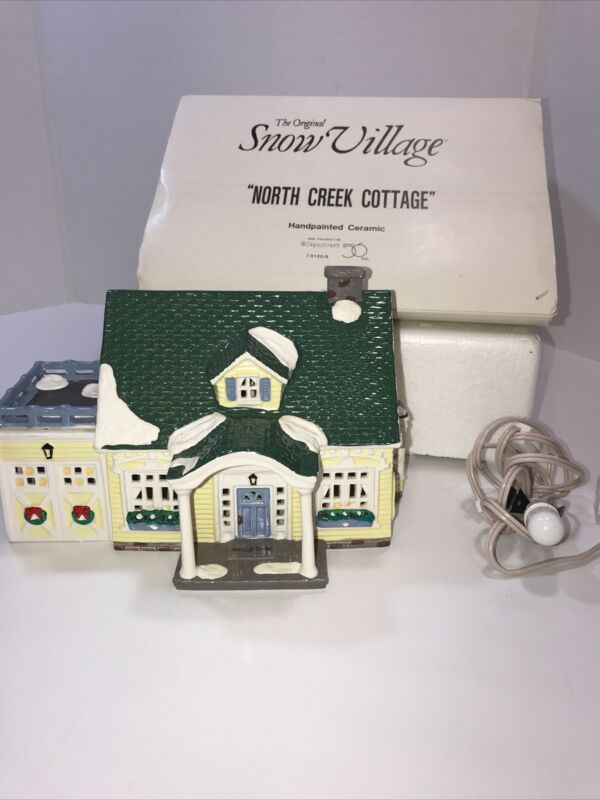 "The Original Snow Village "" North Creek Cottage"""
