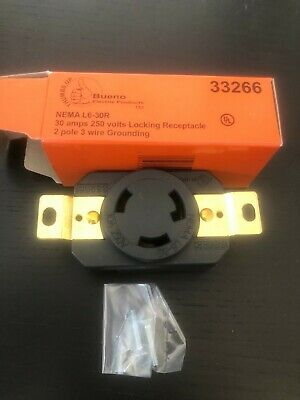 Nema L6-30r 30a 250v 33266 Female Twist Lock 3 Wire Power Locking Receptacle