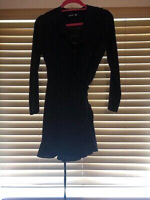John Zack Black Wrap Dress Petite Size 10 BNWT