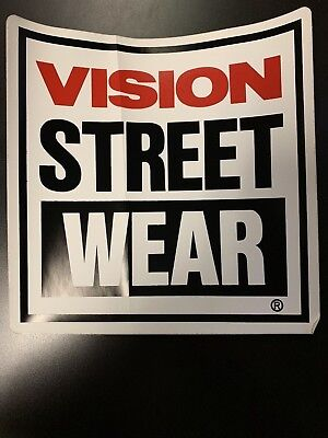 "Vintage Skateboard Halfpipe Ramp Sticker Vision Street Wear HUGE 8""X8"" 80s VSW for sale  Shipping to Canada"