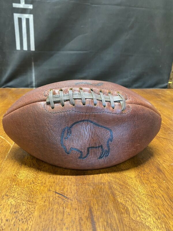Authentic American BISON LEATHER Branded Football Vintage Rare NFL Sports