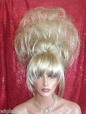 HALLOWEEN SPECIAL VEGAS GIRL WIGS PICK YOUR COLOR UPDO SPIKEY SUPER BIG DRAG - Vegas Halloween Girls