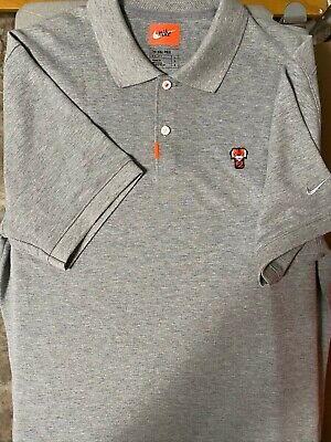 Tiger Woods x Nike Frank Golf Polo Shirt in Grey Slim Fit size Men's Large