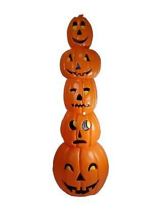 "Union Stacked Totem Pumpkin Jack O' Lantern Blow Mold 34"" 1994 Dom Featherstone"